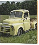 Old Dodge In Mo Wood Print