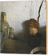 Old Doll In The Attic Wood Print