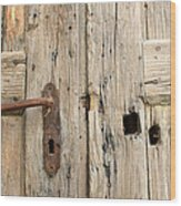 Old Door In Sebastia Wood Print