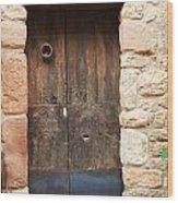 Old Door With Knocker Wood Print