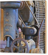 Old Drill Press Wood Print