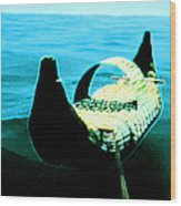 Old Egypt Handmade Boat  Wood Print