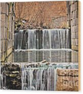 Old Erie Canal Locks Wood Print