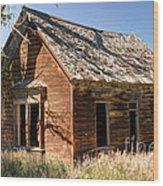 Old Farm Homestead - Woodland - Utah Wood Print