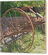 Old Farm Machine 3 Wood Print