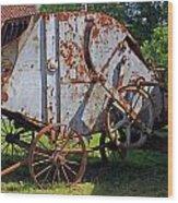 Old Farm Machine Wood Print
