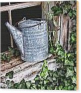 Old Fashioined Sprinkling Can 1 Wood Print