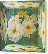 Old Fashioned Yellow Rose - Mirror Box Wood Print