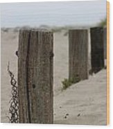Old Fence Poles Wood Print