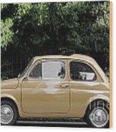 Old Fiat Wood Print
