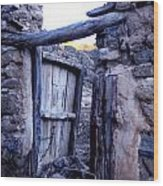Old Finca Ancient Hause In The Spanish  Mountains Wood Print