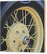 Old Ford Wheel Wood Print