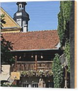 Old Franconian House Wood Print