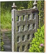 Old Garden Entrance Wood Print by Heiko Koehrer-Wagner