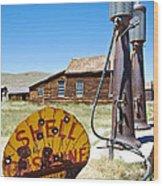 Old Gas Pumps Wood Print