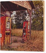 Old Gas Station 2 Wood Print