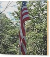 Old Glory Wood Print by Jeannie Atwater Jordan Allen