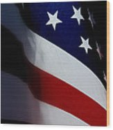 Old Glory - The Flag Of A Proud Country Wood Print