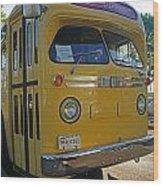 Old Gm Bus Wood Print