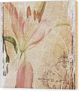 Old Greating Card Wood Print