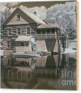 Old Grist Mill In Infrared Wood Print