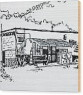 Old Grocery Store - W. Delray Beach Florida Wood Print