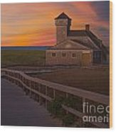 Old Harbor U.s. Life Saving Station Wood Print by Susan Candelario