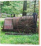 Old Hardee Sprayer Wood Print