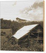 Old Hay Barn Wood Print