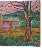 Old Herschel Farm Wood Print