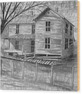 Old Homeplace Wood Print