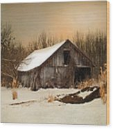 Old Homestead Barn Wood Print