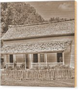 Old House In The Cove Wood Print