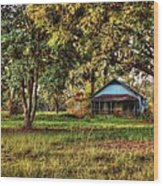 Old House On 98 Wood Print
