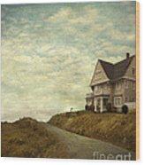 Old House On Rural Road Wood Print
