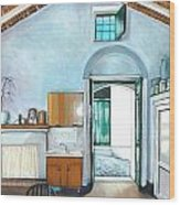 Old House Pisticci Wood Print