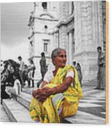 Old Indian Woman Wood Print