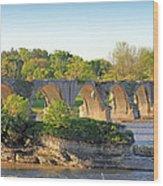 Old Interurban Bridge Wood Print