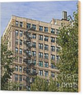 Old Iron Fire Escape Chicago Il Wood Print by Christine Till