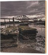 Old Jetty By The Bridge Wood Print