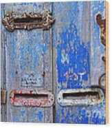 Old Mailboxes Wood Print