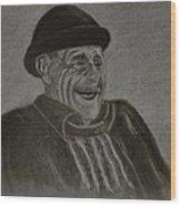 Old Man Laughing Wood Print