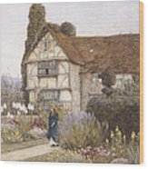 Old Manor House Wood Print by Helen Allingham