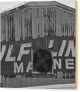 Old Marine Sign Wood Print