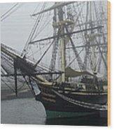 Old Massachusetts Sailing Ship Wood Print