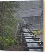 Old Mill In The Smokey Mountains Wood Print