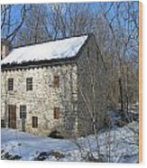 Old Mill On Winters Road Wood Print