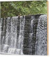 Old Mill Waterfall Wood Print