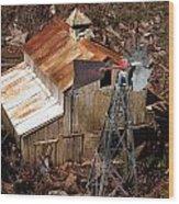 Old Mining Camp Wood Print
