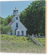 Old Mission Point Lighthouse 5306 Wood Print by Michael Peychich